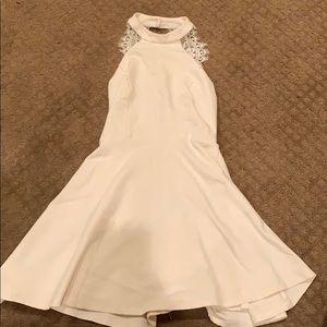 Women's white lace back dress
